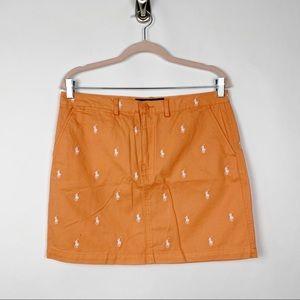 Ralph Lauren Sport Polo Logo Cotton Skirt 6 #0073